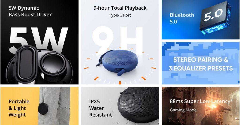 Realme Cobble Bluetooth Speaker - Highlights