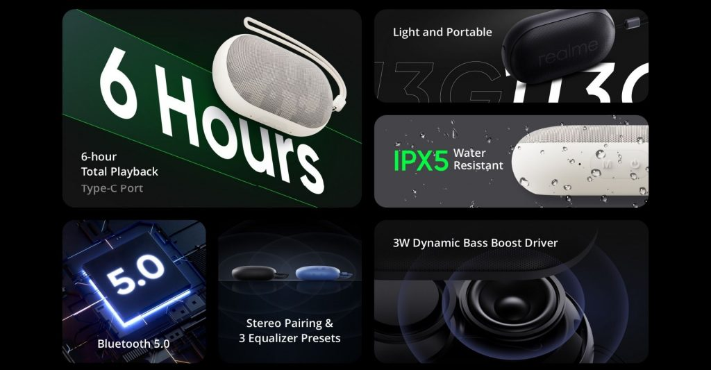 Realme Pocket Bluetooth Speaker - Highlights