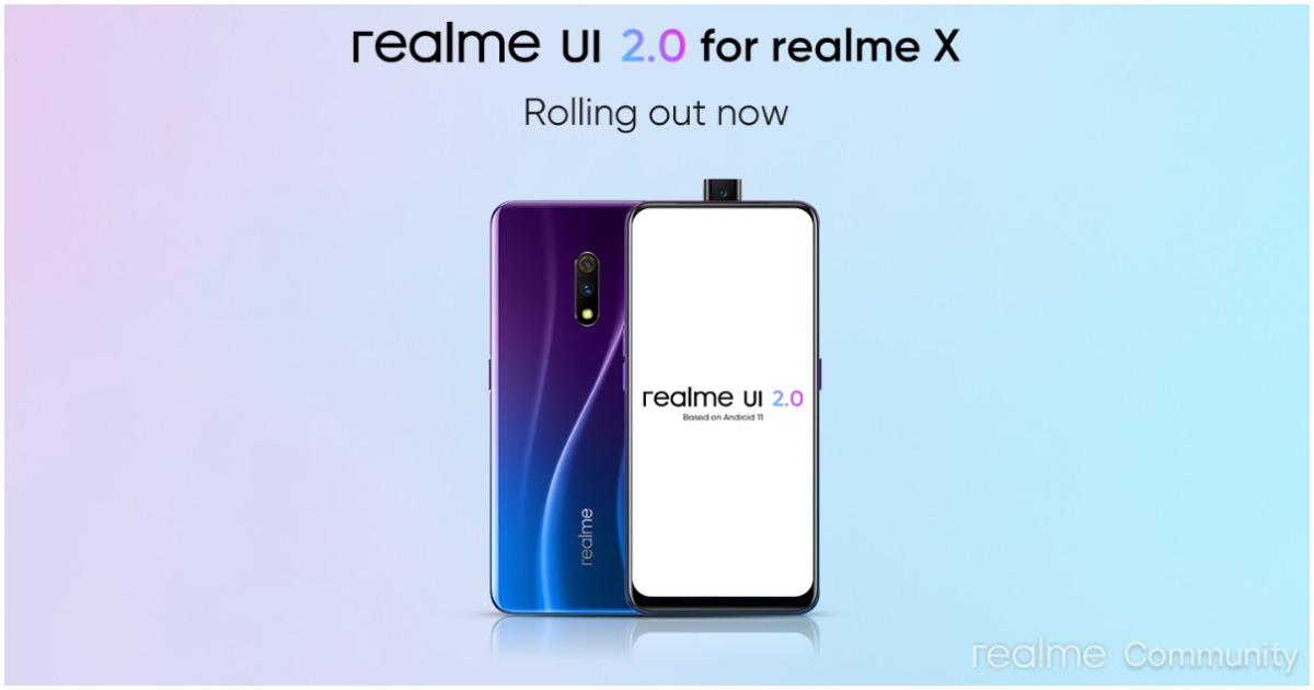 Realme X, Realme 6, Realme 6i Android 11 Update Rolling Out In India
