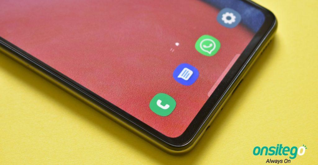 Samsung Galaxy A52s 5G Display Chin