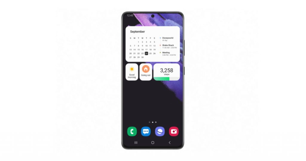 Samsung One UI 4.0 Home Screen