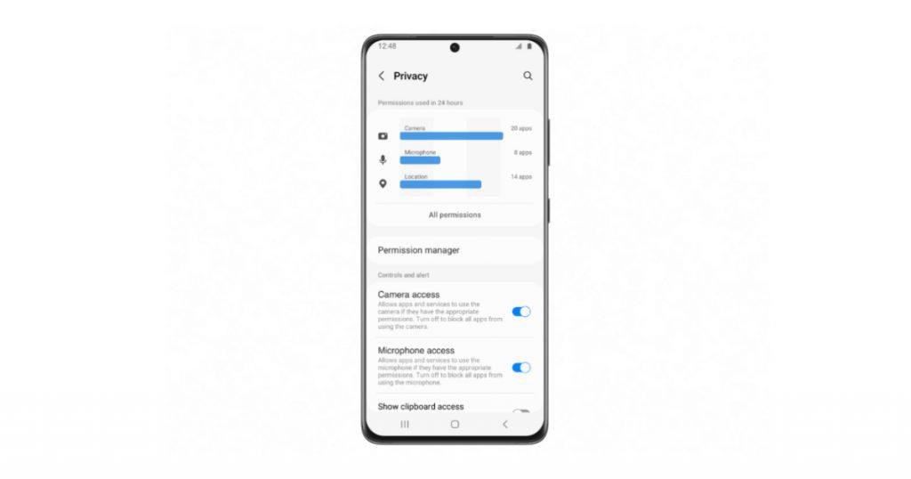 Samsung One UI 4.0 Privacy