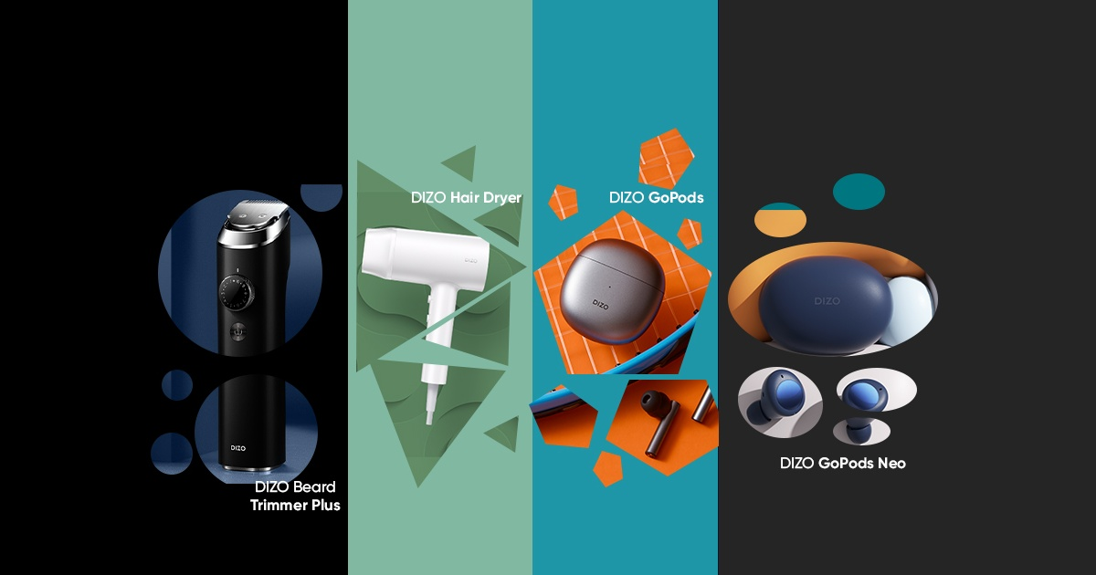 Realme's Lifestyle Brand DIZO Launches a Bunch of Earbuds and Grooming Devices