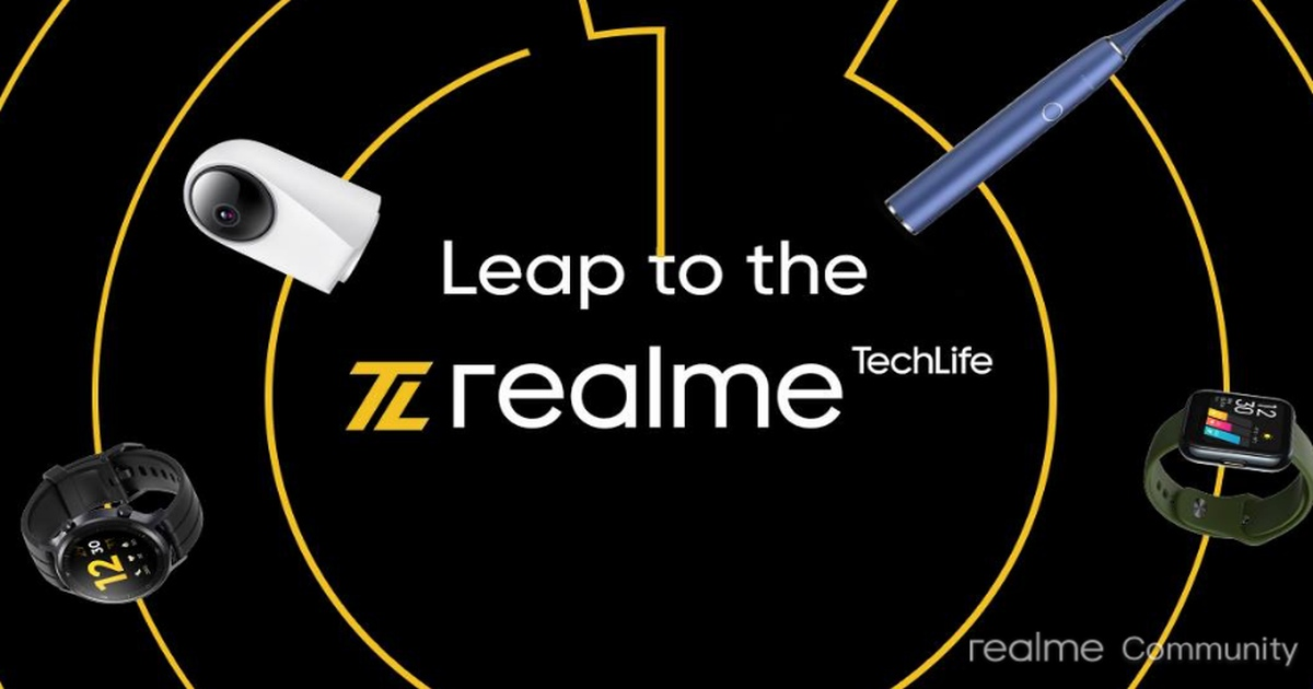 Realme Smartwatches, Wireless Earphones, and TechLife-Series AIoT Solutions Will Be Manufactured In India