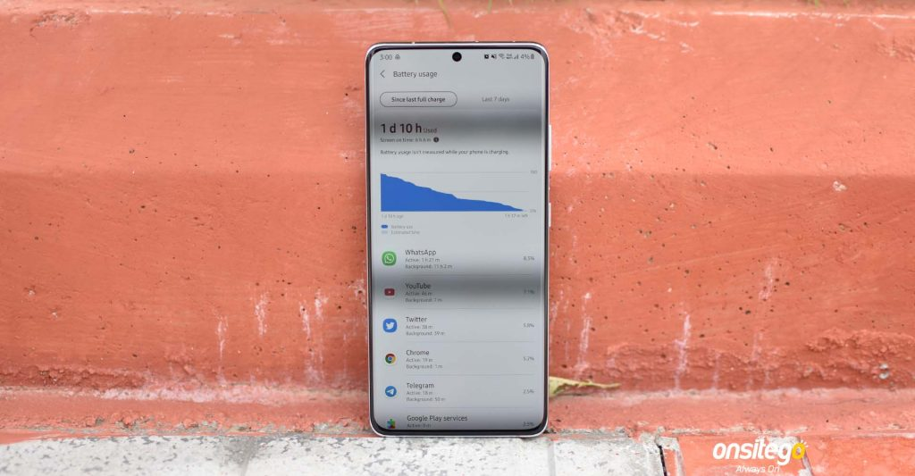 Samsung Galaxy S21 Ultra Battery Life